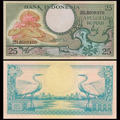 1959 Indonesia 50 Rupiah P-68 UNC