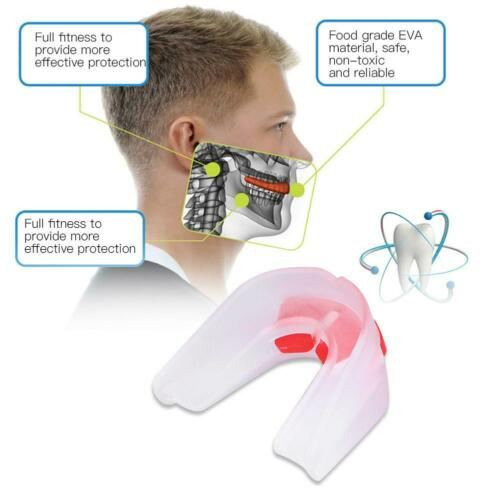 EVA Gum Mouth Guard Teeth Grinding Boxing Sports Gym MouthPiece Shield Protector