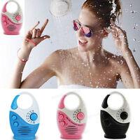 Portable Bathroom Water-resistant AM/FM Mini Shower Music Radio Christmas Gift