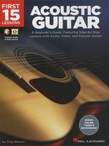 First 15 Lessons Acoustic Guitar TAB Book//Audio//Video Learn How To Play Method