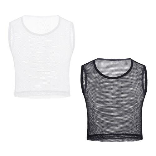 Men Sleeveless See-through Mesh Fishnet Muscle Tank Top T-Shirt Party Club Wear
