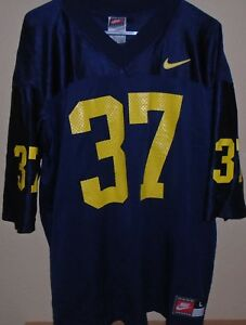 new product 53086 6ac5f Details about Michigan Wolverines #37 Football Blue Jersey Nike Team Sports  Size Large