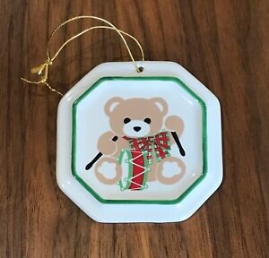 Pfaltzgraff Bear Christmas Ornament Octagon Hess S Limited Edition Collection Ebay
