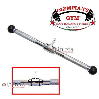 Olympian's - BARRA PROFESSIONALE TRICIPITI BICIPITI dritta PULLEY LAT MACHINE