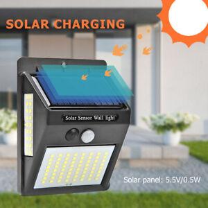 100-Lampe-Solaire-LED-Detecteur-de-Mouvement-Exterieur-Projecteur-Capteur