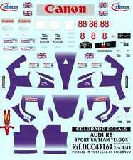 Colorado Decals 1/43 AUDI R8 SPORT UK TEAM VELOQX