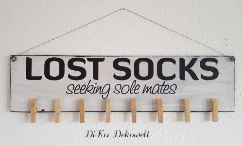 Shabby Deko Schild ...Lost Socks.. Handgemacht