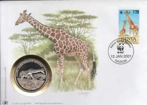 Numisbrief WWF 2001 Kenya - Giraffa Camelopardalis Reticula / Giraffe (038)