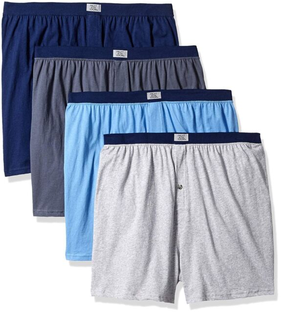 Fruit of the Loom Mens 6-Pack Knit Boxer Shorts Boxers Cotton Underwear 3X-Large