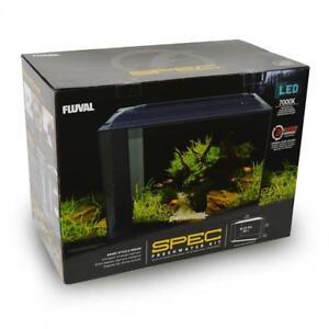 """21.8"""" X 17.5"""" X 11.5"""" Fluval Fine Workmanship Black Spec V 16 Gallon Freshwater Aquarium Kit"""