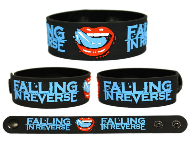 FALLING IN REVERSE Rubber Bracelet Wristband Fashionably Late Alone