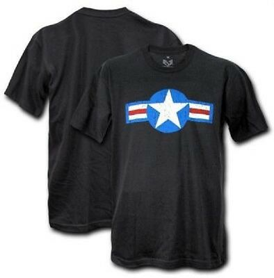 Clever Rapdom Us Single Army Airforce Old Star Vintage Classic Tee Shirt Xl Xlarge