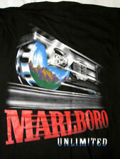 RARE Marlboro Cigarettes Unlimited Railroad Train Car Black XL Shirt T SEALED