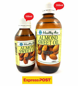 Free-Express-Post-ALMOND-SWEET-OIL-100-Pure-Cold-Pressed-Premium-Grade