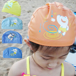1PC Kids Girl Boy children PU Waterproof Swim Swimming sport Cap beanie hat