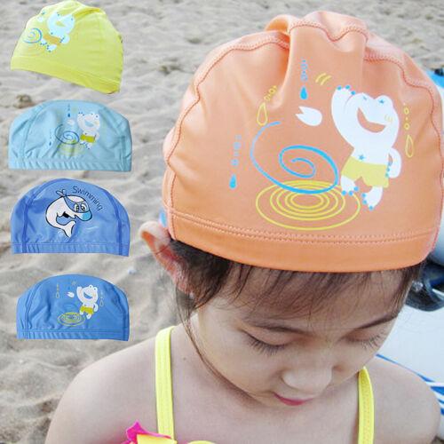 1PC Kids Girl Boy children PU Waterproof Swim Swimming sport Cap beanie hat
