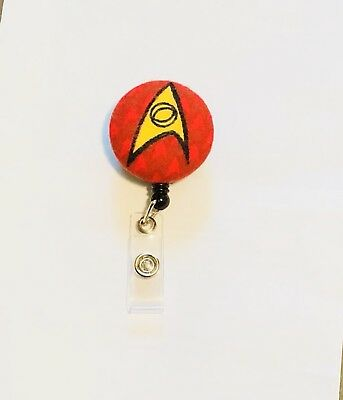 Star Trek Science Officer Retractable Badge Holder Lanyard Alligator Clip Nurse