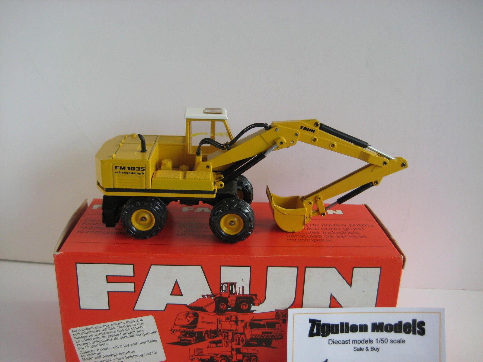 Faune FM 1035 Excavateurs tieflöffel mobile #174.4 NZG 1:50 neuf neuf neuf dans sa boîte   Authentique  eb8e1b