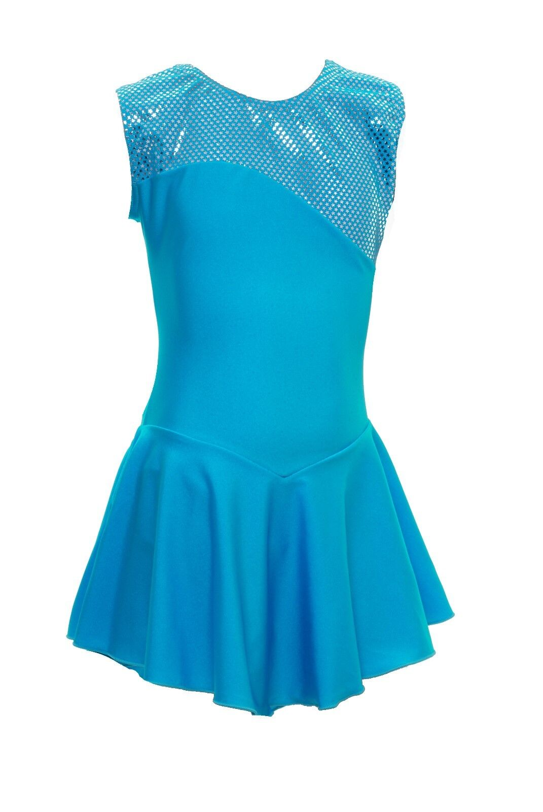 Skating Dress -KINGFISHER LYCRA   Metalic top NO SLEEVE ALL SIZES AVAILABLE