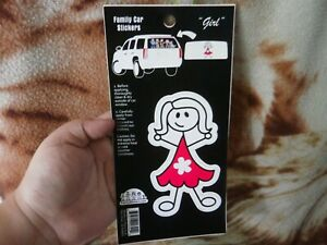 CLOSEOUT-SALE-Imported-From-USA-Family-Car-Stickers-Girl-Made-in-USA-1