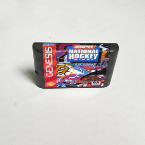 ESPN National Hockey Night (1994) 16 bit Game Card Sega Genesis / Mega Drive