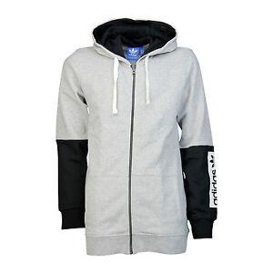 Adidas Originals Box Logo Fleece Full Zip Hoody Streetwear