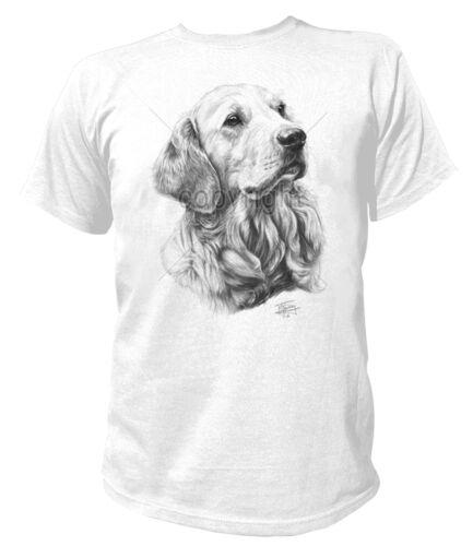 T-shirt 13179 golden retriever du Labrador Chien dog Chiot Breed race animal de compagnie