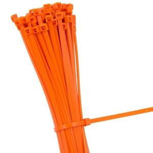 abc7ee915a9b ORANGE STRONG QUALITY NYLON CABLE TIES ZIP WRAPS - Small/Large Short ...