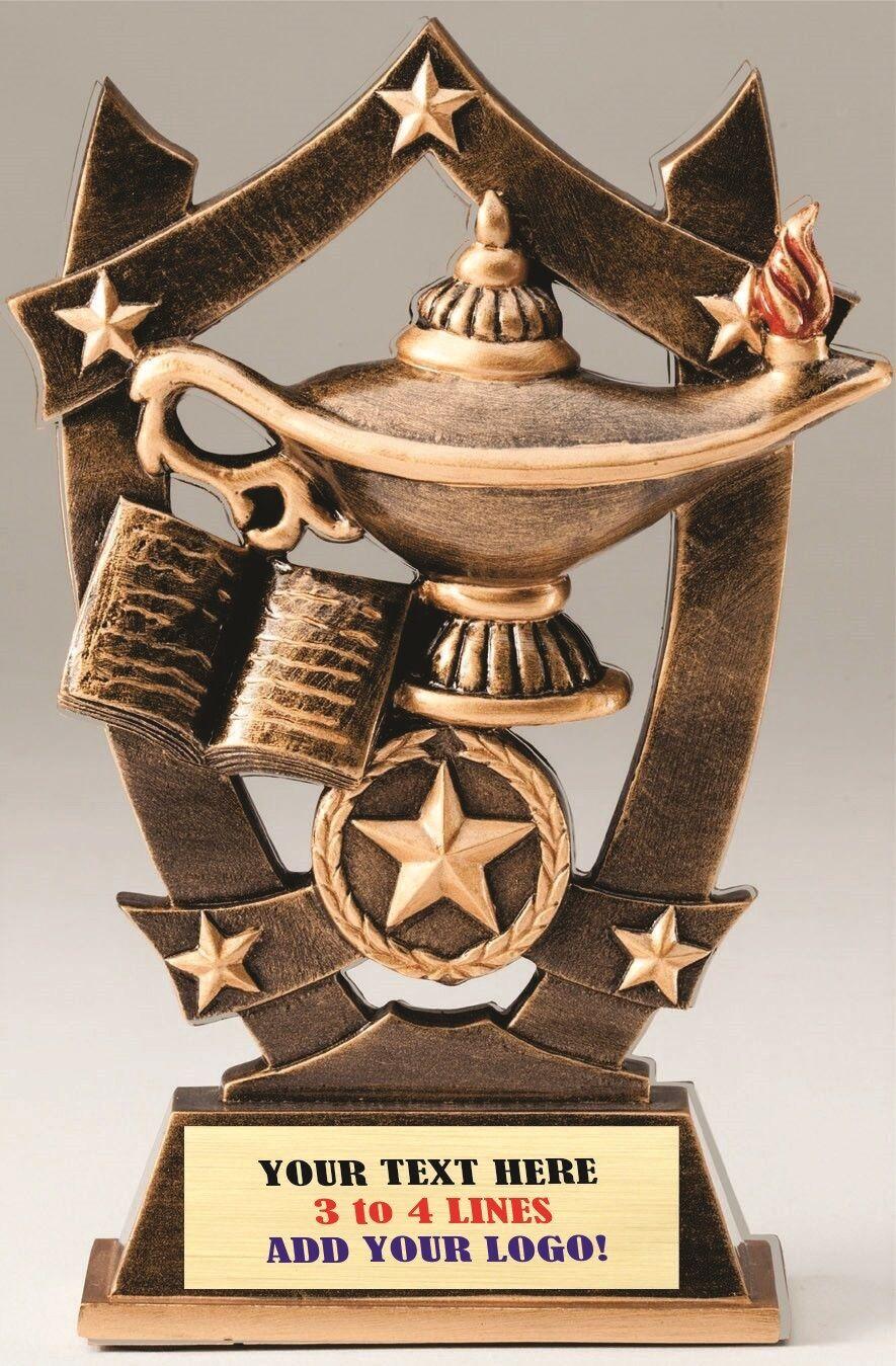 Academic School Scholastic Three Dimensional Trophy Resin Award Text