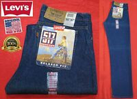 Vintage Levi's Levis 517 Orange Tab Boot Cut Relaxed Fit Jeans Usa 33x34