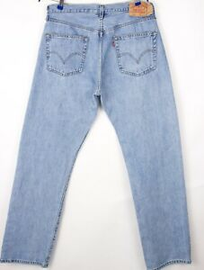 Levi's Strauss & Co Hommes 501 Jeans Jambe Droite Taille W36 L34 BBZ487