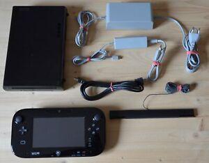 Wii-U-Nintendo-Wii-U-consola-negro-con-Wii-U-GamePad-buen-estado