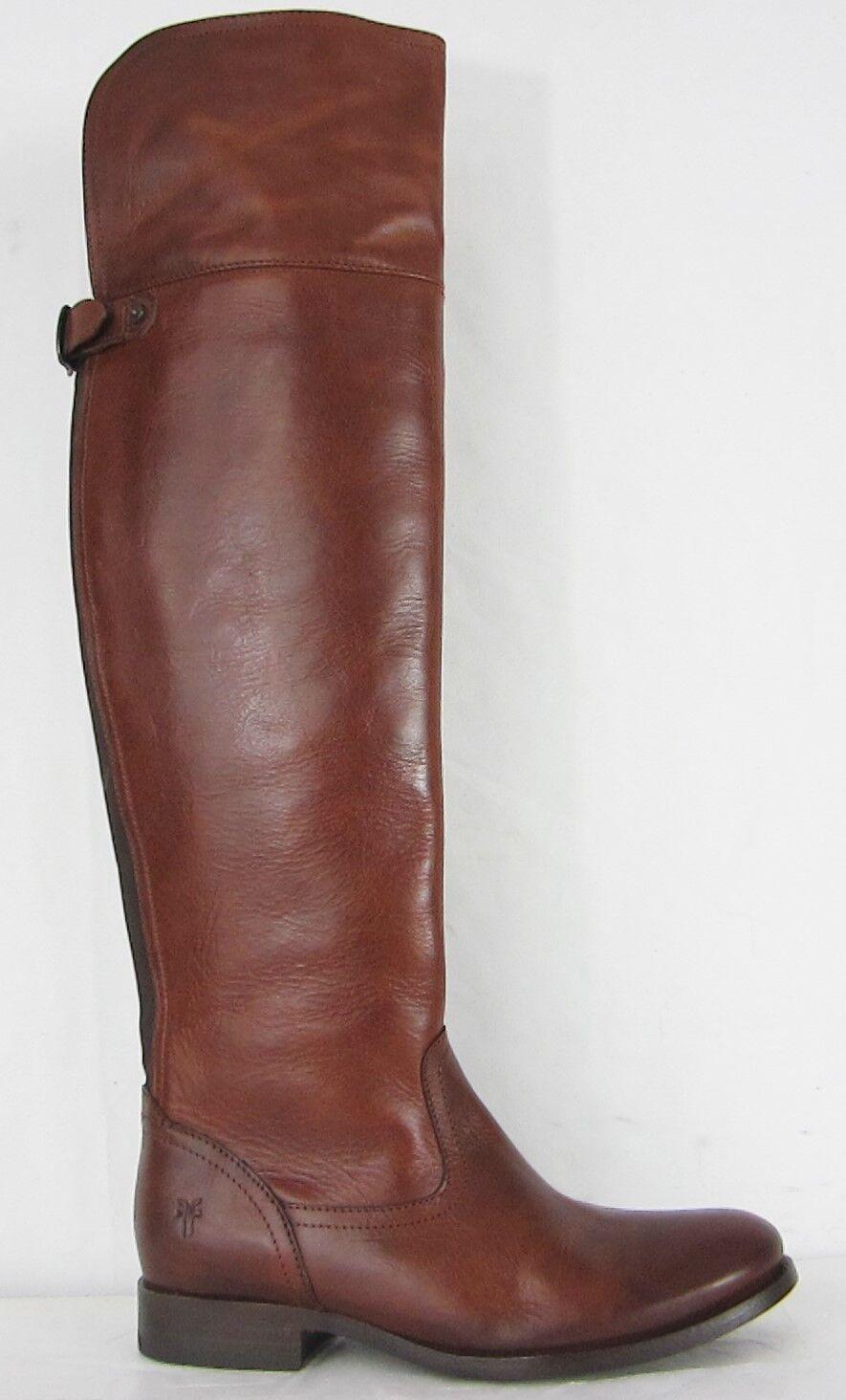 Frye botas Melissa over-the-rodilla Cognac Cuero botas De Montar