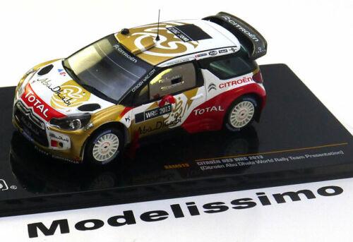1:43 Ixo Citroen DS3 WRC Abu Dhabi Rally Presentation 2013
