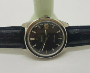 VINTAGE-1967-OMEGA-CHRONOMETER-BLACK-DIAL-DATE-CAL-564-AUTO-MAN-039-S-WATCH