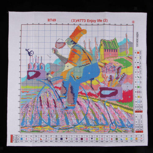 Kreuzstich Stickpackung Säufer Stickbild Stickvorlage vorgedruckt