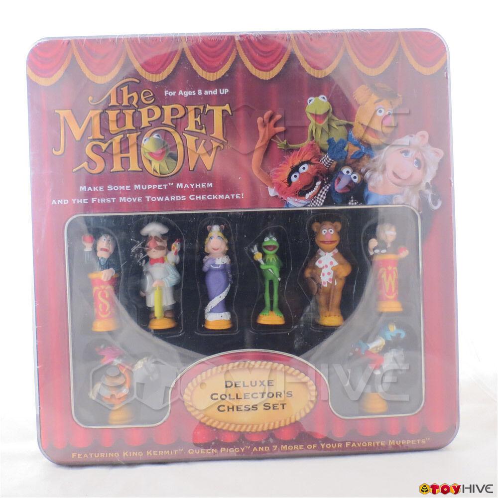The Muppet Show 2003 förseglade Deluxe samlaor s Schack Set King Kermit drottning Piggy
