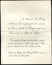 généalogie.Mariage du Baron Amédée de BRAY et Mlle de PLINVAL-SALGUES. Boissy