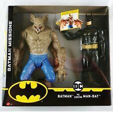 """DC Comics Batman Vs Man Bat 12"""" Poseable Action Figures Mattel NIB"""