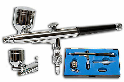 PRECISION GRAVITY FEED DOUBLE ACTION AIRBRUSH KIT AIR BRUSH  AB-186