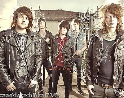 asking alexandria band reprint signed 8x10 photo 2 rp all 5 members ebay. Black Bedroom Furniture Sets. Home Design Ideas