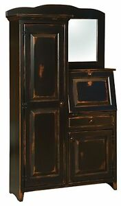 Image Is Loading Amish Rustic Primitive Secretary Office Side By