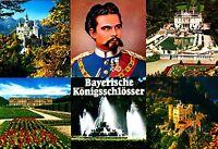 Bayerische Königsschlösser , Ansichtskarte , ungelaufen