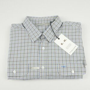 RM-Williams-Men-s-Bourke-Long-Sleeve-Shirt-4XL-white-brown-blue-Check-NEW