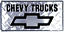 "Chevy Chevrolet Trucks Diamond 6/""x12/"" Aluminum License Plate Tag"
