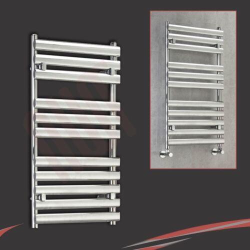 "500mm l h x 930mm /""BRECON/"" Chrome Designer porte-serviettes chauffant radiateur salle de bain"