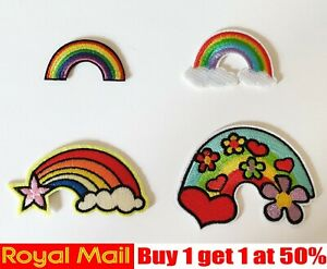 Rainbow  (4 styles) Patch Badge Iron On Sew On
