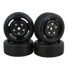 RC1:10 Drift Car 12mm Disk Screw Black Wheels and Tires Pack of 4