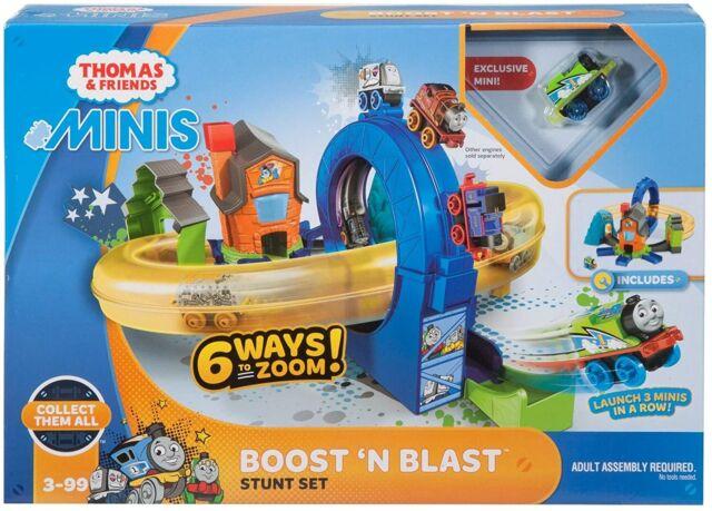 Fisher-Price Thomas & Friends MINIS Boost 'n Blast Stunt Train Play set