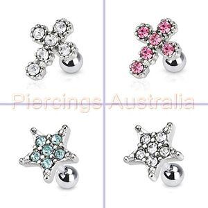 16G-6mm-Gem-Cartilage-Tragus-Bar-Ear-Ring-Piercing-Stud-Barbell-Body-Jewellery
